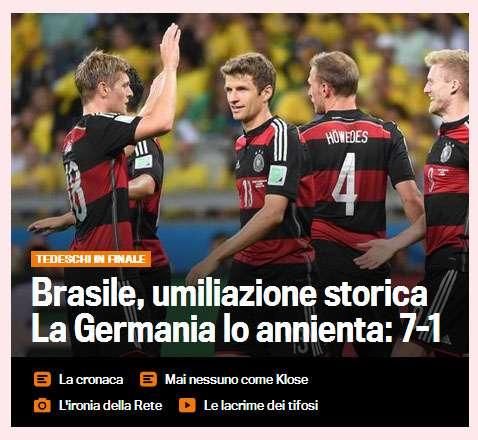 Brazil vs Germany - La Gazzetta dello Sport