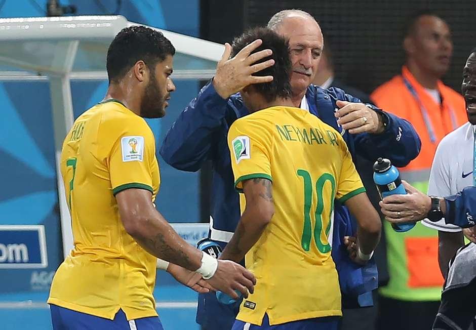 Neymar Luiz Scolari Brazil Croatia 2014 World Cup Group A 06122014