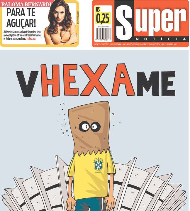 Capas 7 a 1 Super Notícia Belo Horizonte MG