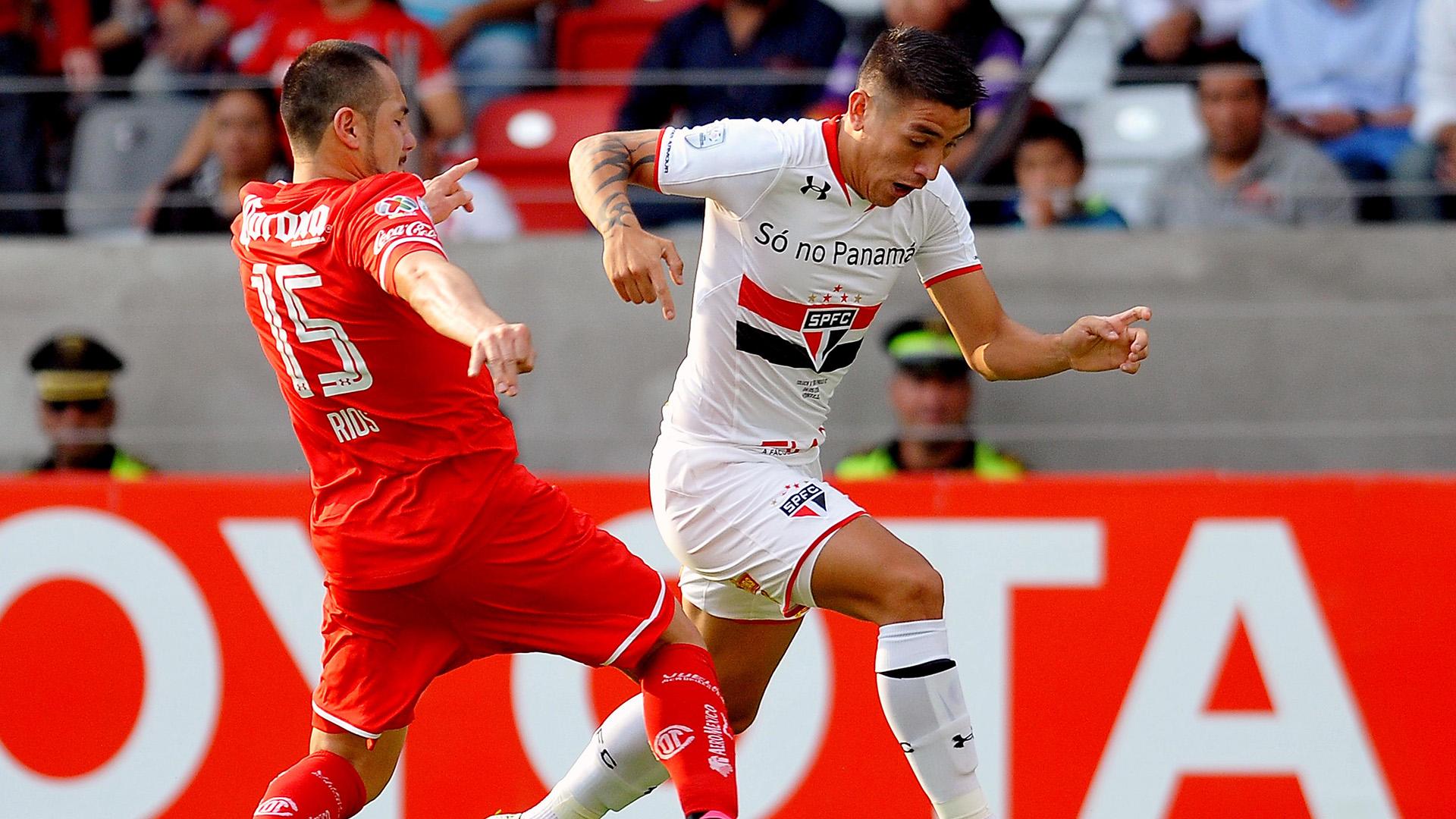 Antonio Rios Ricardo Centurion Toluca São Paulo Copa Libertadores R16 04052016