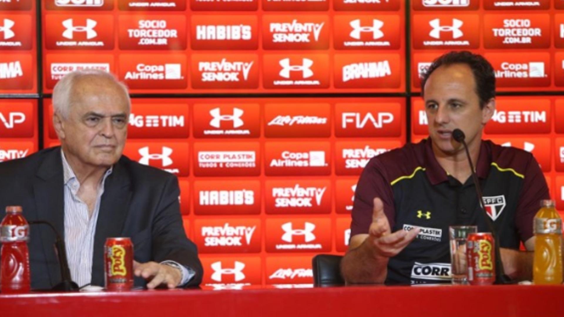 Rogério Ceni Leco treinador entrevista São Paulo 08 12 2016