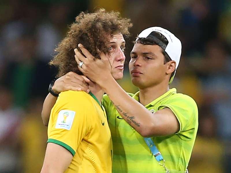 David Luiz pede desculpas aos brasileiros pela goleada contra a Alemanha