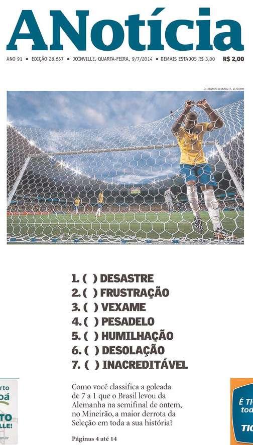 Capas 7 a 1 A Notícia Joinville SC