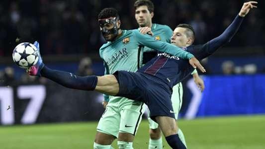 Rafinha Draxler PSG Barcelona Champions League R16 02142017