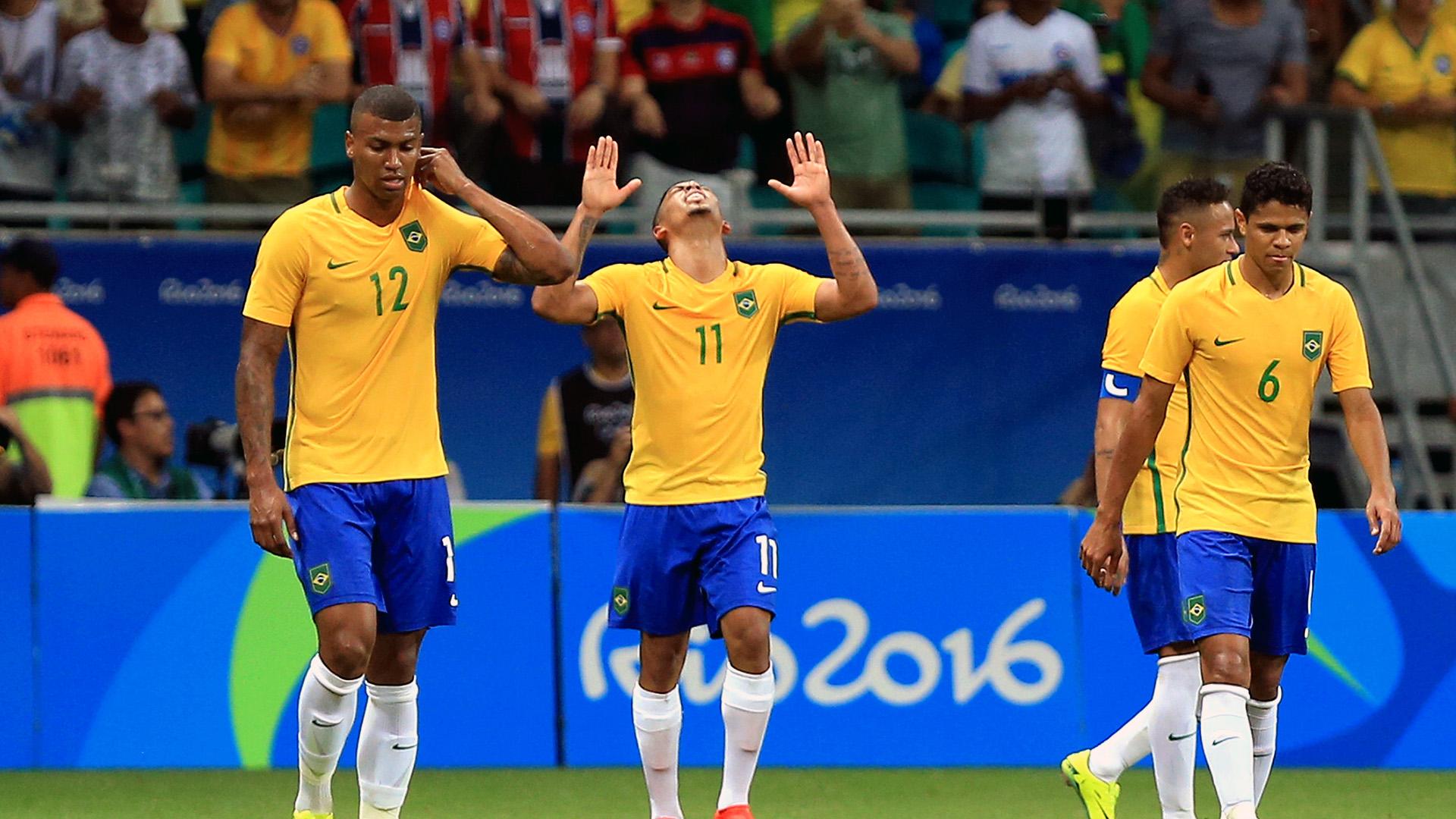 Gabriel Jesus Walace Douglas Santos Denmark Brazil Rio 2016 Olympics 10082016