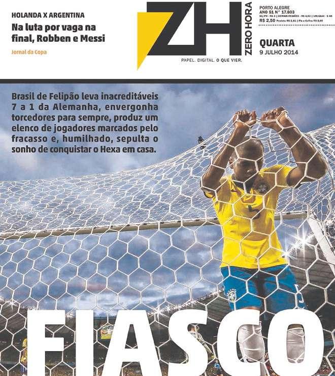 Capas 7 a 1 Zero Hora Porto Alegre RS