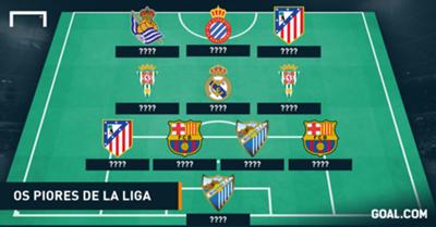 GFX Seleção dos Piores de La Liga