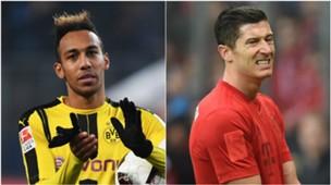GFX Article Aubameyang Lewandowski Dortmund Bayern 2016