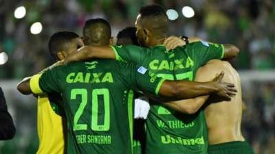 Comemoração Chapecoense San Lorenzo Sudamericana 23112016