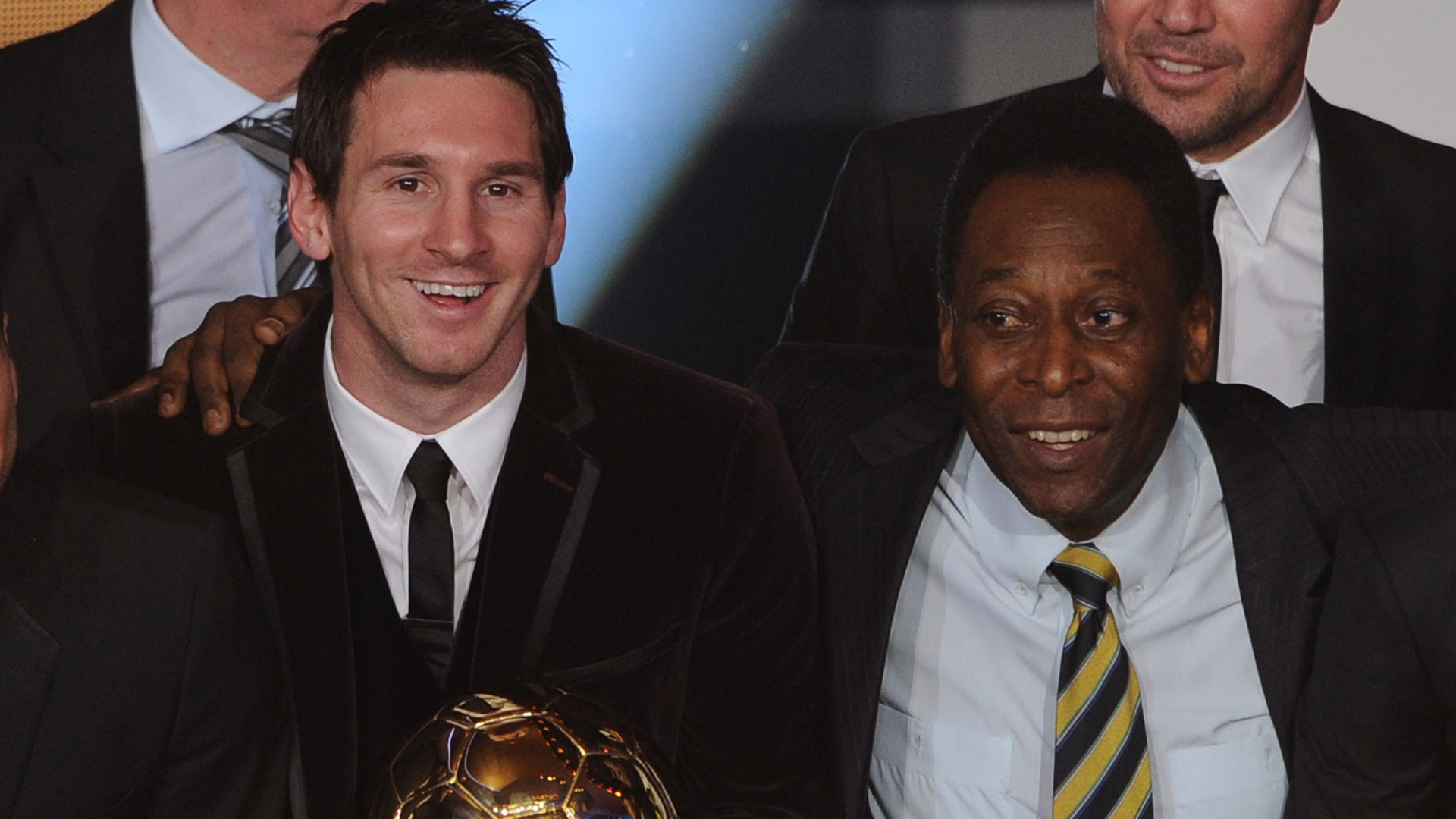 Lionel Messi Pelé 2011 Ballon d'Or 09012012