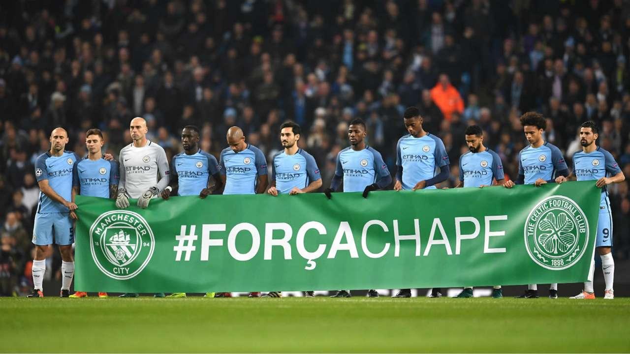 Manchester City Champions League homenagens Chapecoense 06 12 2016
