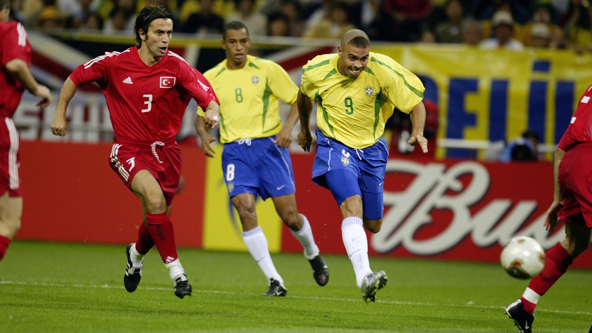 Ronaldo Nazario Brazil Turkey 2002 World Cup semifinals 26062002