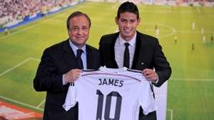James Rodriguez Real Madrid unveiling Florentino Perez 22072014