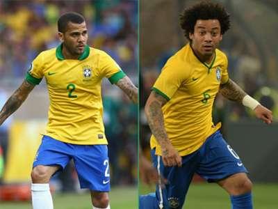 Daniel Alves, Marcelo - Brazil
