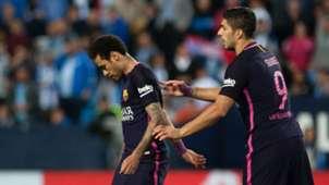 Luis Suarez Neymar red Malaga Barcelona La Liga 08042017