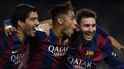 Luis Suarez Neymar Messi Barcelona 11012015