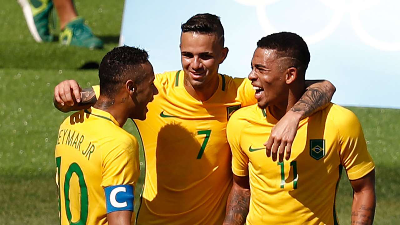 Neymar Luan Gabriel Jesus Honduras Brasil Seleção Olimpiada 17082016