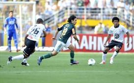 Valdivia e Romarinho - Corinthians x Palmeiras