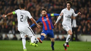 Messi, Thiago Silva and Adrien Rabiot  Barcelona x PSG 08032017