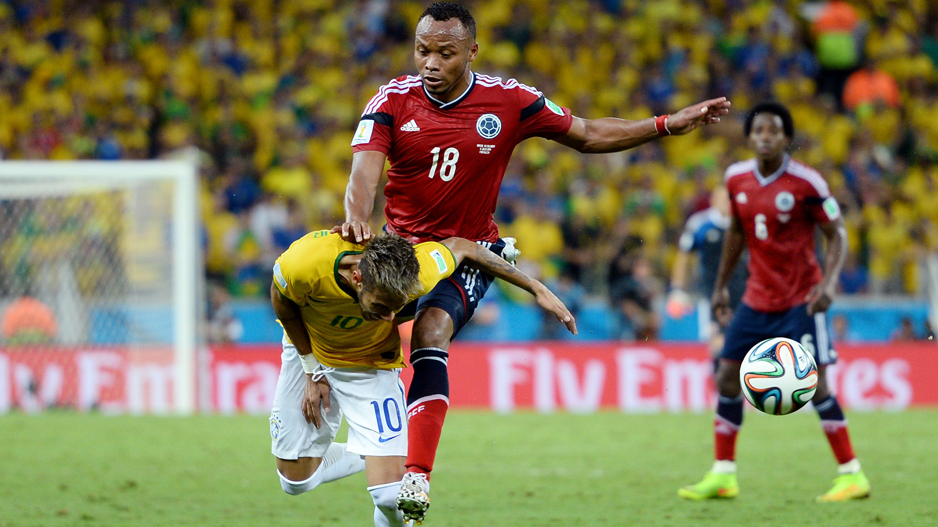 Neymar Camilo Zuniga Brazil Colombia World Cup 04072014
