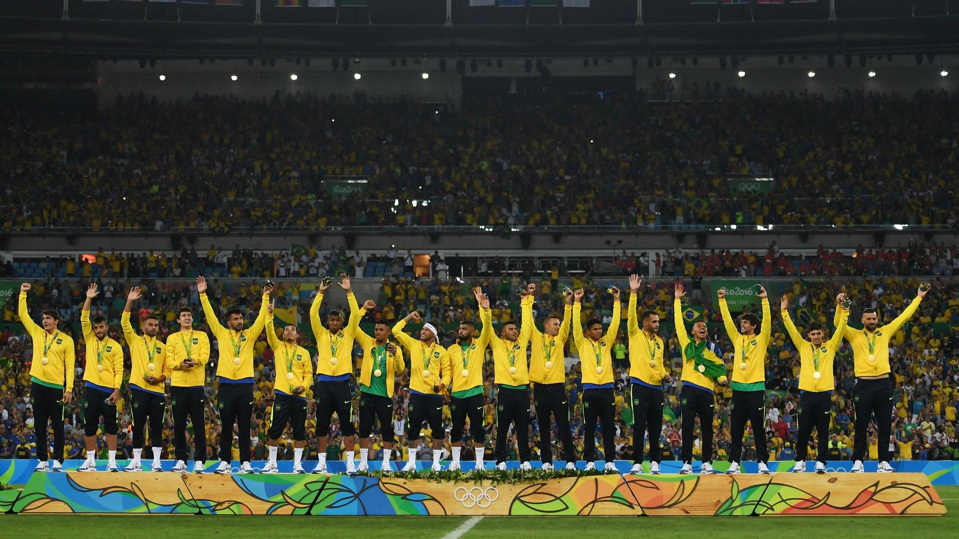 pódio - Brasil x Alemanha 2008