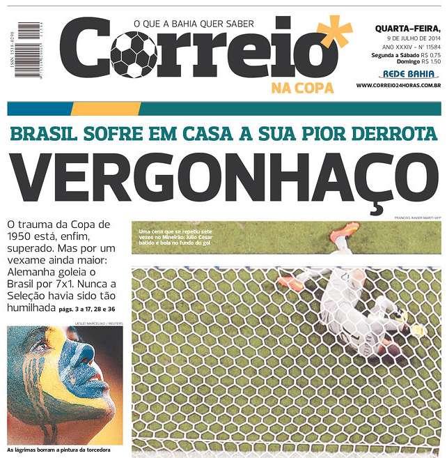 Capas 7 a 1 Correio na Copa Salvador BA