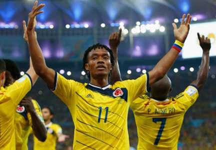 Juan Cuadrado Colombia Uruguay 2014 World Cup 06282014