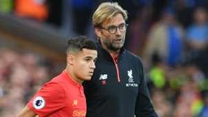 Coutinho Klopp Liverpool 08 10 2016