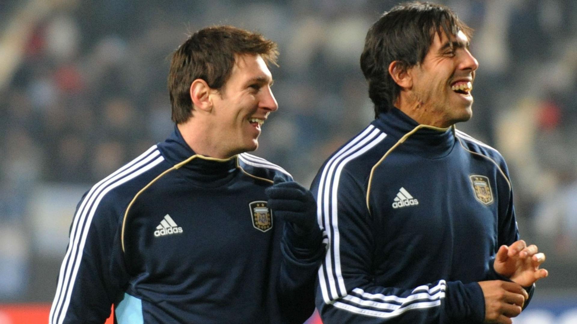 Messi Tevez