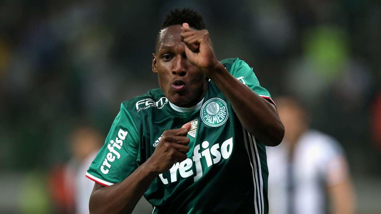Yerry Mina Palmeiras Santos Brasileirão 12072016
