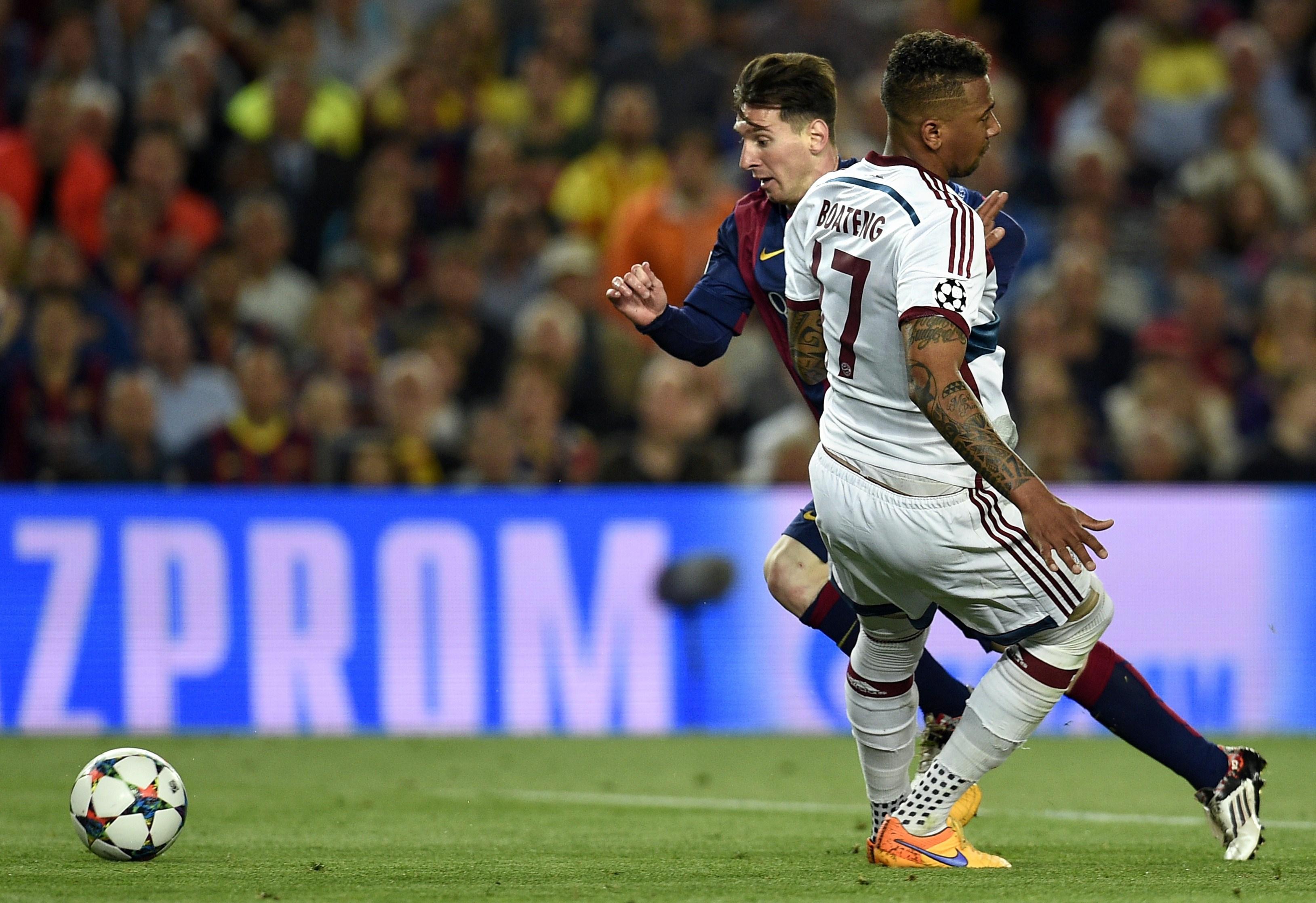 Boateng e Messi
