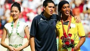 Riquelme e Ronaldinho Gaucho