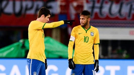 Neymar, Oscar | Austria-Brazil | International Friendly | Ernst-Happel Stadion | 18112014