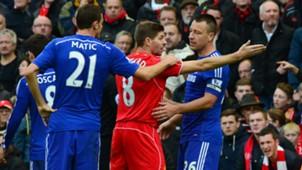 Steven Gerrard and John Terry | Liverpool 1-2 Chelsea | Premier League | 08112014