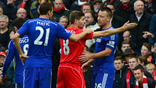Steven Gerrard and John Terry | Liverpool 1-2 Chelsea | Premier League | 08112014