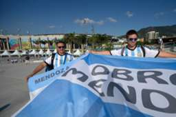 Fans Arrive to Argentina and Bosnia-Herzegovina Group F FIFA World Cup 2014 06152014