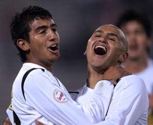 Arturo Vidal y Humberto Suazo, en el Colo Colo 2006.
