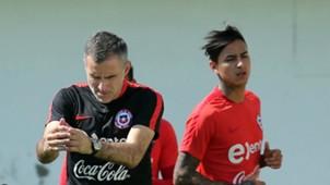 La Roja inició su preparación de cara al duelo con Perú