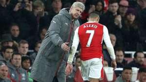 Alexis Sánchez y Arsene Wenger