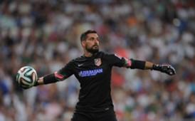 Miguel Angel Moya debutó oficialmente en Atlético de Madrid ante Real Madrid.