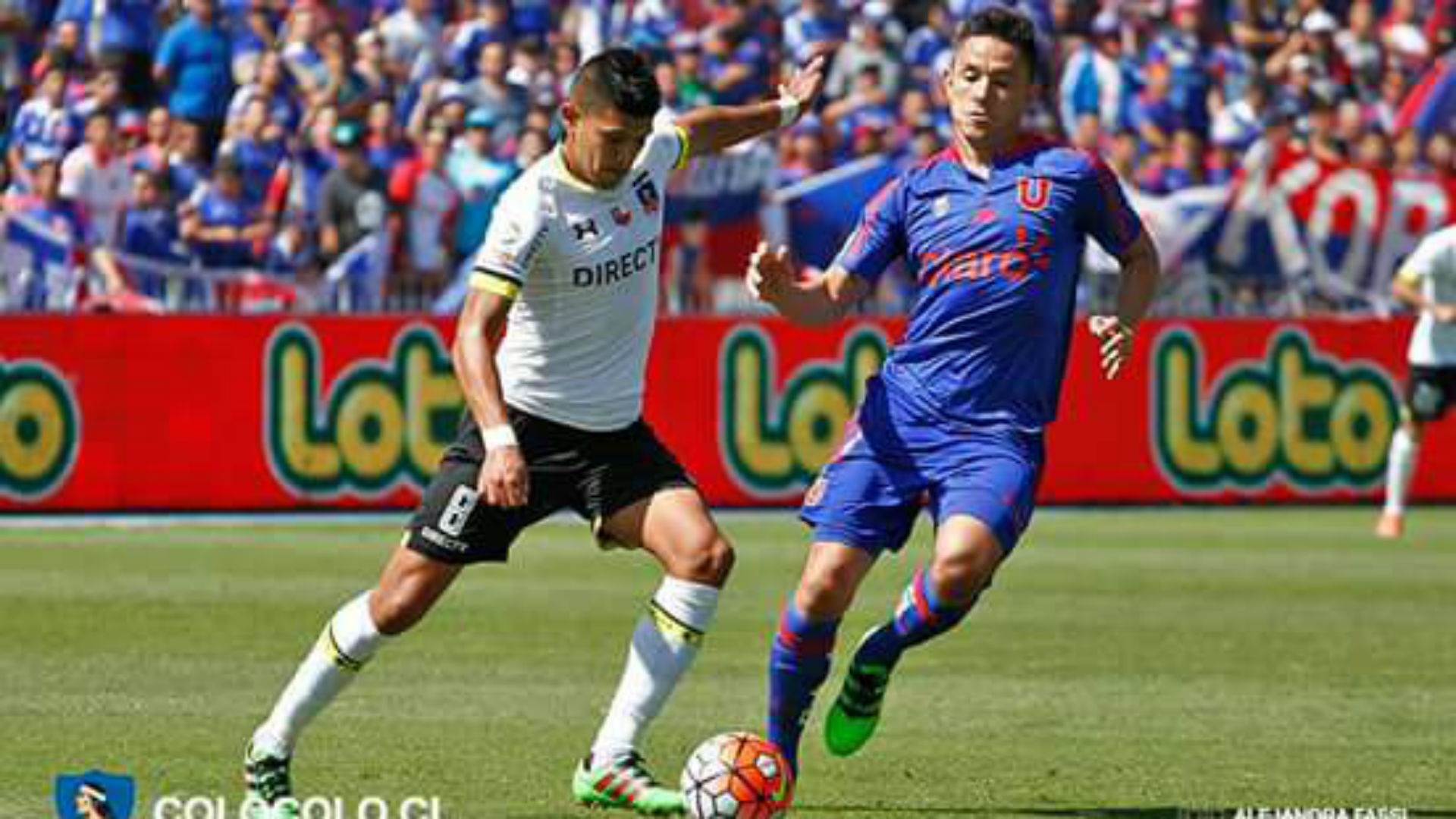 Superclásico chileno. Universidad Chile Colo Colo