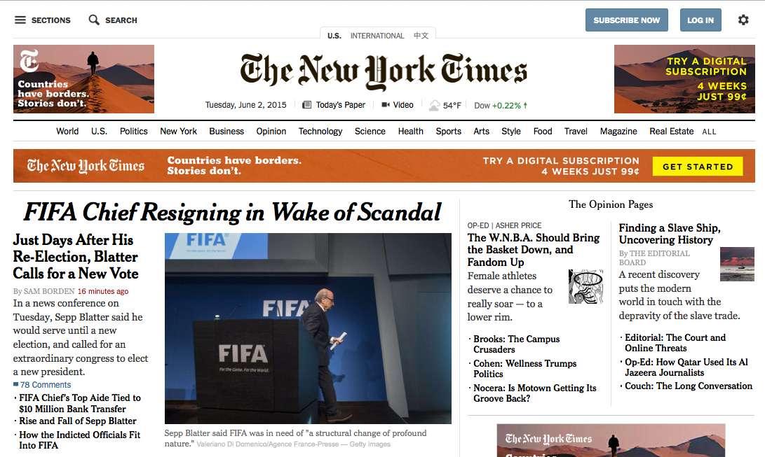 New York Times, de Estados Unidos.