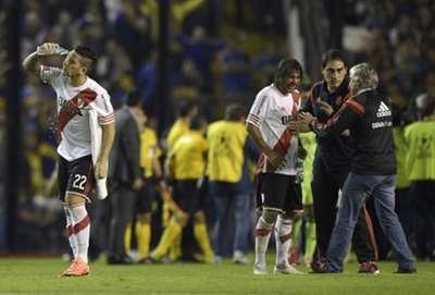 Las imágenes de la vergüenza en el Boca-River, de octavos de final de Copa Libertadores.