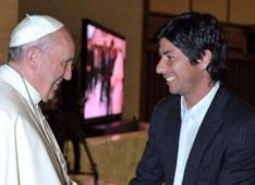 Jaime Valdés saluda al Papa Francisco.