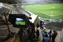 Las  cámaras de Tv están listas.
