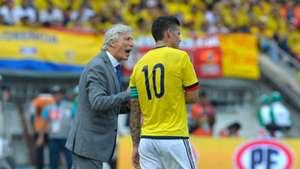 José Pekerman & James Rodríguez Colombia vs Chile Eliminatoria 10112016