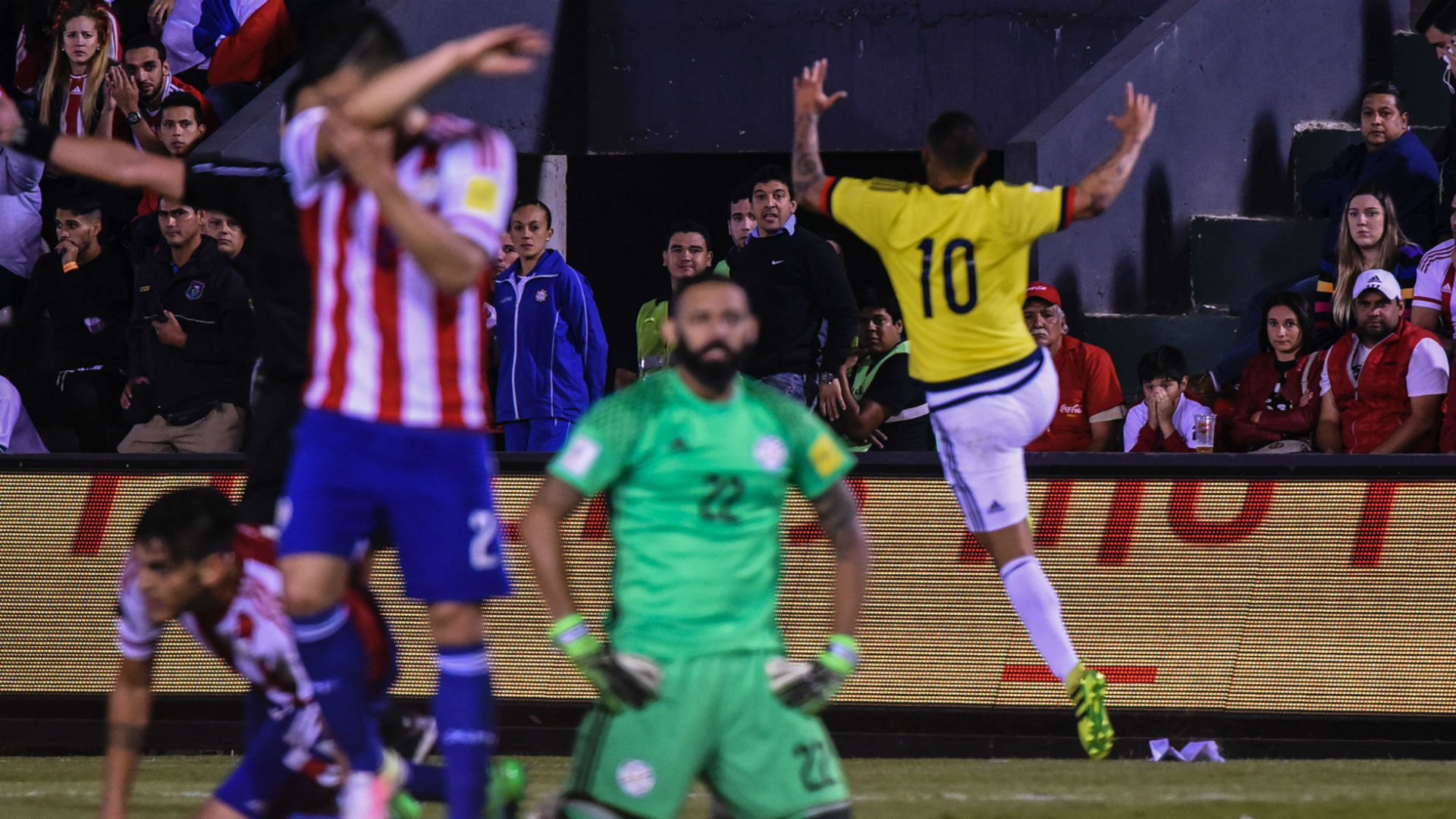 Gol Cardona Colombia vs Paraguay Eliminatoria