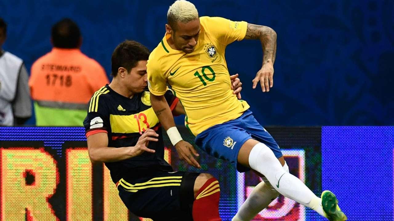 Neymar - Stefan Medina Brasil vs Colombia Eliminatoria 06092016