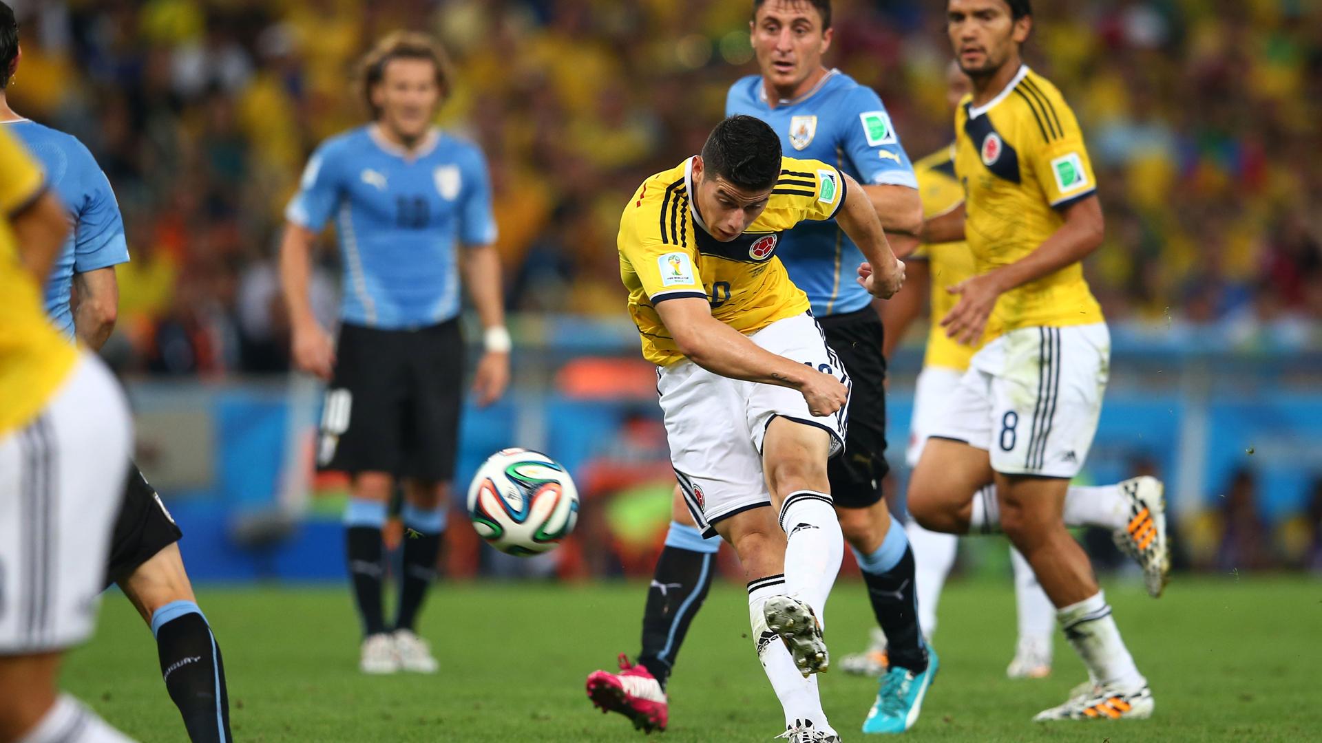 Gol de James a Uruguay (Mundial de Brasil)