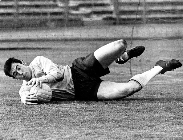 Gordon Banks campeón del Mundo con Inglaterra en 1966